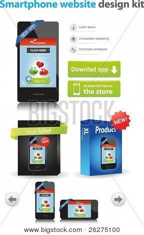Smartphone website design kit