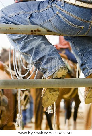 A Cowboy at a rodeo in Wyoming.