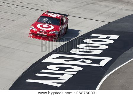 BRISTOL, TN - MAR 19: Juan Pablo Montoya brings his Chevrolet through the turns during a practice session for the Food City 500 race at the Bristol Motor Speedway on Mar 19, 2010 in Bristol, TN.