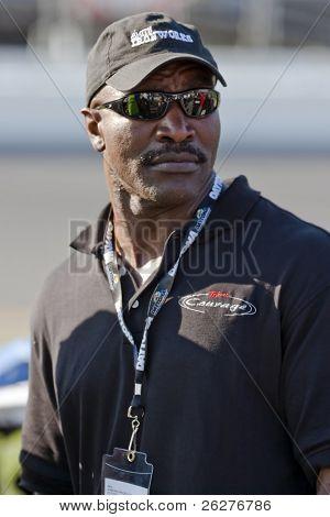 DAYTONA BEACH, FL - FEB 14:  Heavyweight Champion, Evander Holyfield, watches his race team qualify for the Camping World 300 NASCAR Nationwide Series opener on Feb 14, 2010 in Daytona Beach, FL .