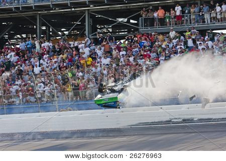 TALLADEGA, AL - APR 26:  Carl Edwards goes flying up the track after being hit during the Aaron's 499 NASCAR Sprint Cup race at the Talladega Superspeedway  on Apr 26, 2009 in Talladega, AL