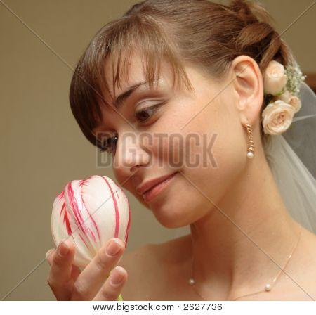 Beautiful Bride With Tulip