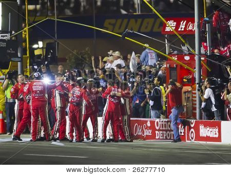 HAMPTON, GA - SEP 05:  Tony Stewart wins the Emory Healthcare 500 race at the Atlanta Motor Speedway in Hampton, GA on Sep 05, 2010.