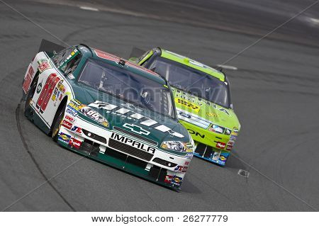 LOUDON, NH - SEP 18:  Dale Earnhardt, Jr. brings his Amp Chevrolet through the turns during practice for the Sylvania 300 race at the New Hampshire Motor Speedway in Loudon, NH on Sept 18, 2010