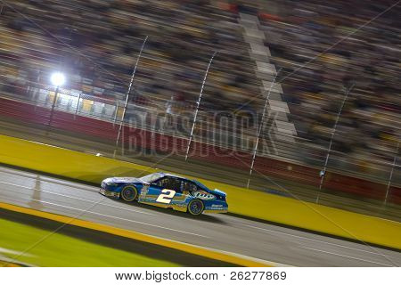 CONCORD, NC - OCT 16:  Kurt Busch brings his Miller Lite Dodge through the frontstretch during the Bank of America 400 race at the Charlotte Motor Speedway in Concord, NC on Oct 16, 2010.
