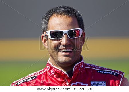 DAYTONA BEACH, FL - FEB 13: Juan Pablo Montoya (42) waits to qualify for the Daytona 500  race at the Daytona International Speedway on Feb 13, 2011 in Daytona Beach, FL.