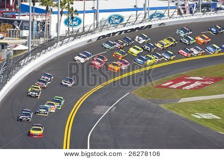 DAYTONA BEACH, FL - FEB 20: Kurt Busch (22) takes his Pennzoil Dodge down the frontstretch during the Daytona 500 race on Feb 20, 2011 at the Daytona International Speedway in Daytona Beach, FL.
