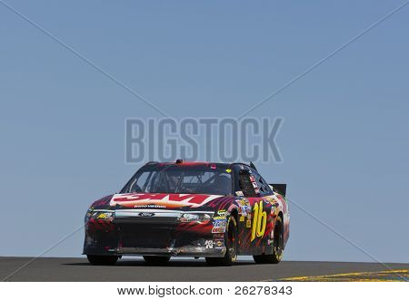SONOMA, CA - JUNE 26: Greg Biffle (No. 16) takes to the track for the Toyota/Save Mart 350 race at the Infineon Raceway in Sonoma, CA on June 26, 2011.