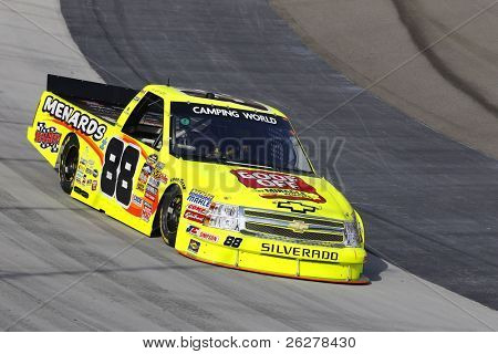 BRISTOL, TN - AUG. 24: Matt Crafton (88) takes to the track for a practice session for the O'Reilly 200 race in Bristol, TN on Aug 24, 2011.