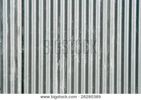 Corrugated fence background.