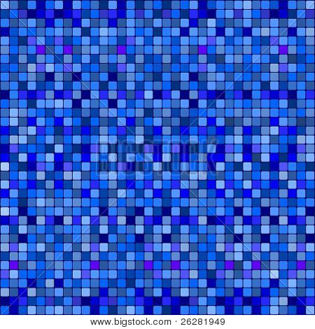 Blue squares abstract pattern background.