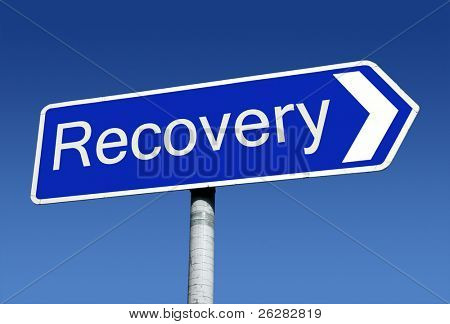 Signpost along the road to recovery.