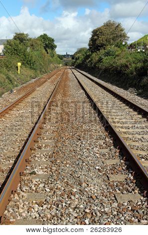 british Railway Strecke zweigleisig.