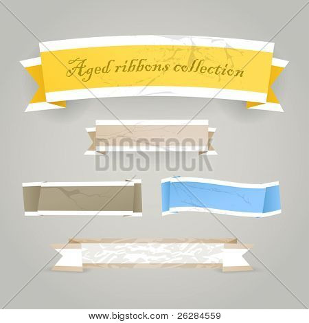 Colorful polygonal vintage origami banners. Place your text here