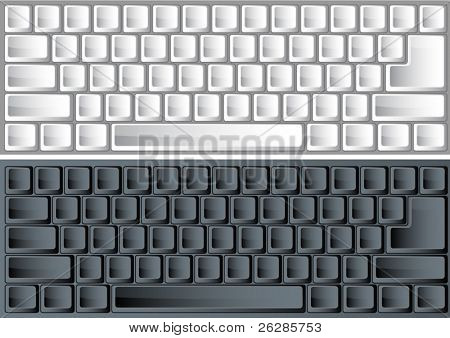 black and white vector keyboards for any layout