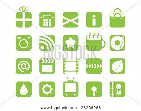 set of mono color web icons