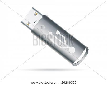 USB key detailed icon
