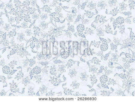 elegant vector floral texture in pale blue colors
