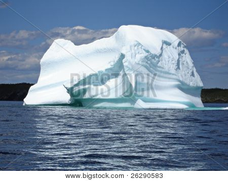 Ice Berg in Ocean off Newfoundland