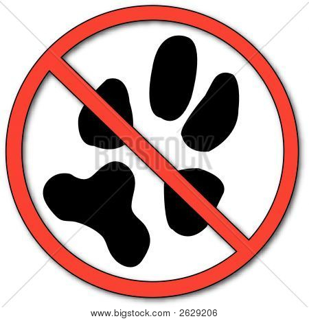 No Symbol With Paw Print