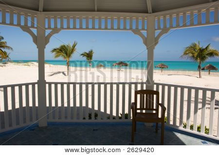 Tropical Beach From Gazebo