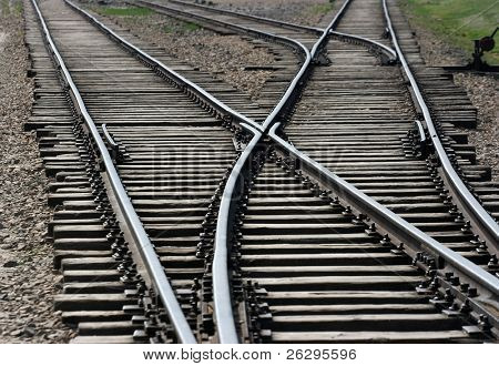 Railway tracks junction