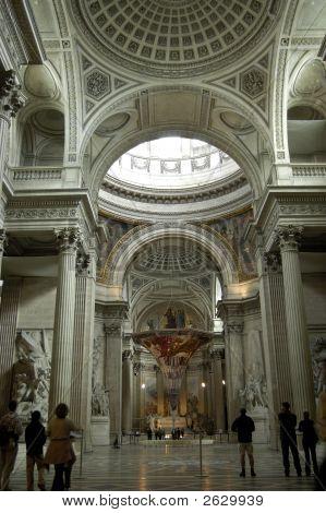 Interior Dome Of The PanthéOn. Paris
