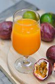 Juice ,orange Juice Or Passion Fruit Juice poster