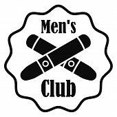 Cross Cigar Men Club Logo. Simple Illustration Of Cross Cigar Men Club Vector Logo For Web Design Is poster