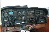 Cockpit of a Cessna 170 aircraft