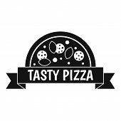 Tasty Pizza Sign Icon. Simple Illustration Of Tasty Pizza Sign Icon For Web poster