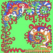Tribal Psychedelic Ethnic Background. Isolated Pattern.vector Ha poster