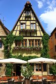foto of quaint  - Quaint cafe in Rothenburg - JPG