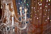 picture of glitz  - Elegant chandelier with a colorful background - JPG
