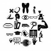 Anatomy Icons Set. Simple Set Of 25 Anatomy Vector Icons For Web Isolated On White Background poster