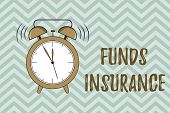 Handwriting Text Writing Funds Insurance. Concept Meaning Form Of Collective Investment Offered An A poster