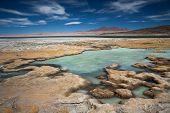 salt lake Salar de Tara, Chile, near the border between Bolivia, Chile and Argentina poster