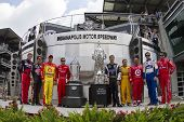 INDIANAPOLIS, IN - JULY 25:  The past NASCAR Sprint Cup winners of the Brickyard at  the Indianapoli