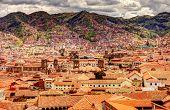Cusco Cityscape, Ancient Inca City Of Peru poster