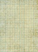 stock photo of graph paper  - Old vintage stained discolored dirty graph paper - JPG