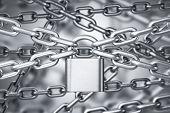 Many Chains Interlocked, Steel Padlock poster