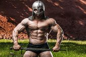 Outdoor Sport Brutal Strong Muscular Men With Sword poster