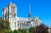 View Of Notre Dame De Paris Cathedral, Paris, France poster