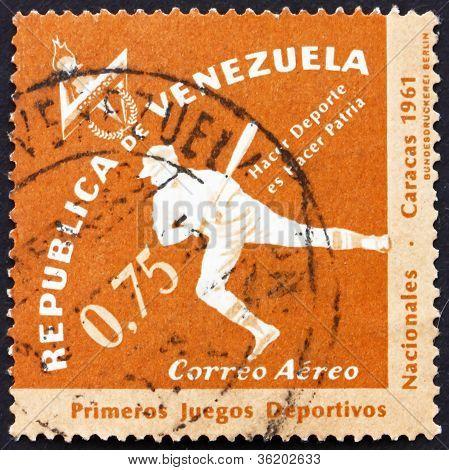 Postage stamp Venezuela 1962 Baseball