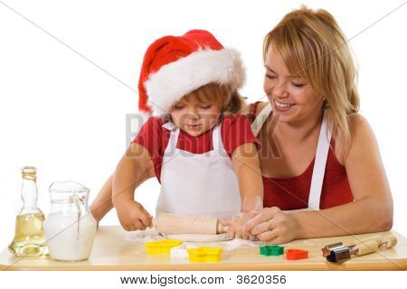 Making Cookies At Christmas Time