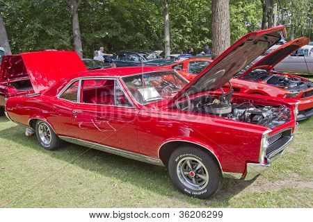 1967 Red Pontiac Gto Muscle Car