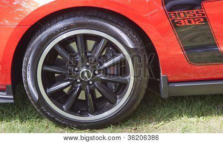 2012 Ford Mustang Boss 302 Car Close Up