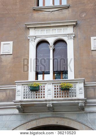 Classical Window With A Balcony
