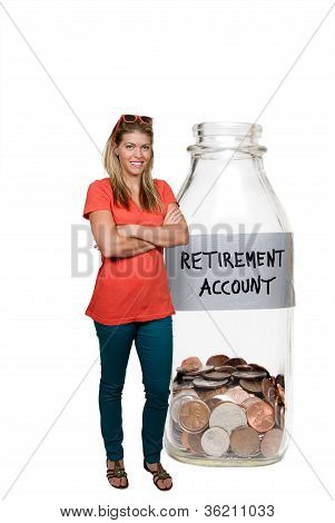 Woman And Her Retirement Account