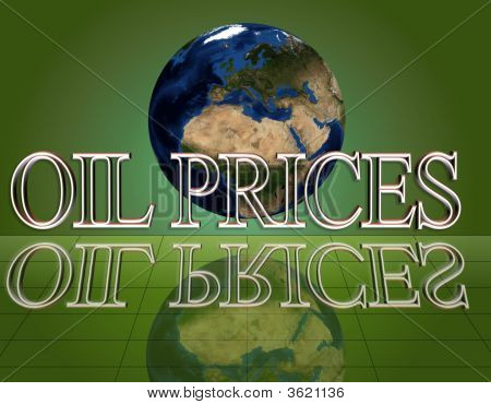 Oil Prices On A Earth Globe